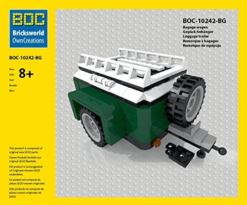 LEGO BOC-BG Gepäck Anhänger Farbe Grün Zubehör Mini Cooper 10242