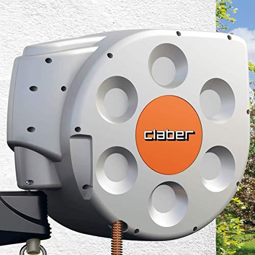 Claber Rotoroll Evolution Avvolgitubo con riavvolgimento Automatico, 30 mt