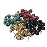 80 piezas muela abrasiva pulido rueda de pulir conjunto rueda de pulido con caja libre par...