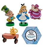 Alice in Wonderland Animators Collection 5 Piece Mini Figure Set Featuring Alice, Cheshire Cat, Mad Hatter and Friends