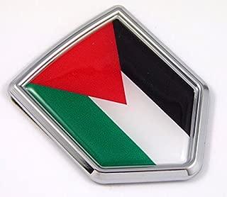 Palestine, Palestinian Flag Chrome Emblem Car Decal Sticker Bike Crest Badge