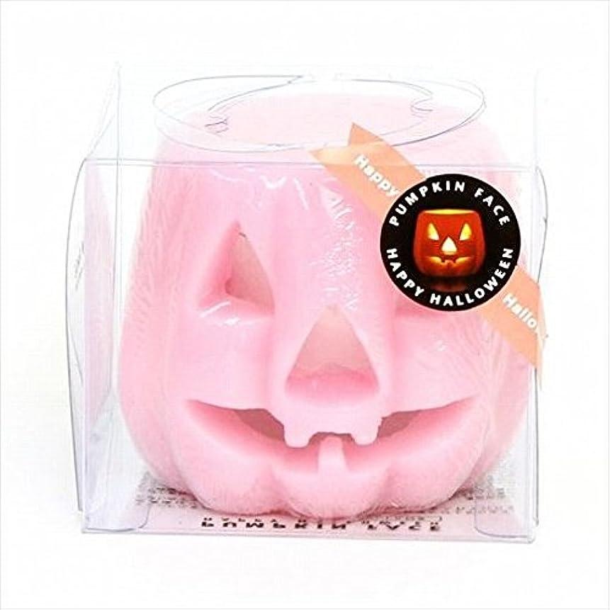 旅客分泌する上記の頭と肩kameyama candle(カメヤマキャンドル) パンプキンフェイスG 「 ピンク 」(A9280010PK)