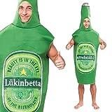 Costume da Bottiglia di Birra Taglia Unica Comprende: Tuta Intera Il Costume Perfetto per il Addio al Celibato