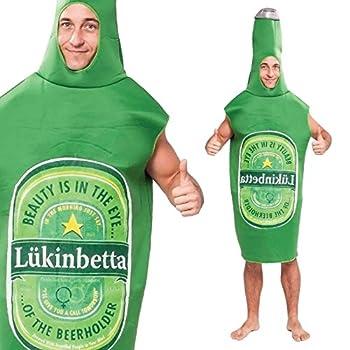Rasta Imposta Lightweight Beer Bottle Costume Green/White One Size
