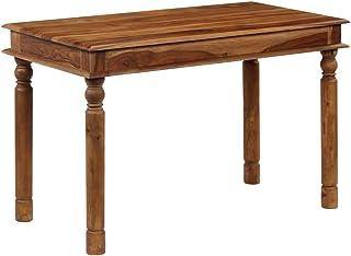 binzhoueushopping Table de Salle à Manger en Bois Massif de Sheesham 120 x 60 x 77 cm Table de Salle à Manger Moderne