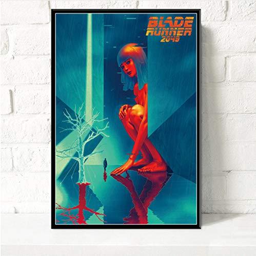 JIUJIUJIU Poster Art Decor Blade Runner 2049 Ryan Gosling Harrison Ford Klassischer Science-Fiction-Film Wandkunst Leinwand Malerei ohne gerahmte 50 * 70 cm