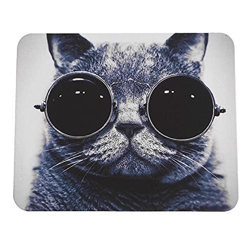 Ygerbkct Elegante patrón de Gato Antideslizante para Ordenador portátil, Alfombrilla para Ratones,...
