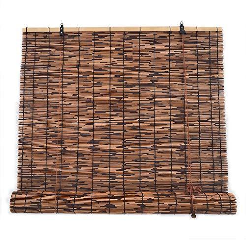 S-AIM Persianas enrollables de bambú, Cortina de láminas, Cortina de Paja, Persianas enrollables de Sombra, Protector Solar Impermeable y Transpirable, Decoración de Muebles de Interior al Aire Libre