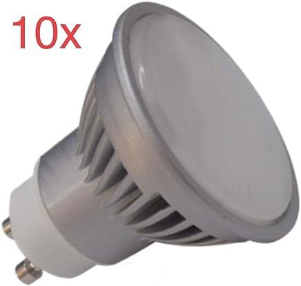 (LA) 10x GU10 LED 7W potentisima ! Halogeno LED 680 lumenes reales - Recambio bombillas 60w (Blanco Calido 3000k)
