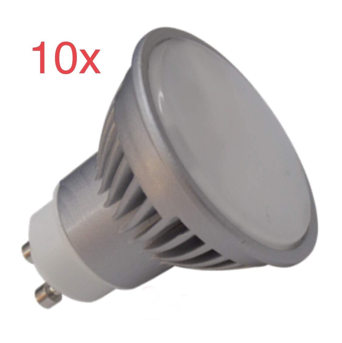 Pack 10x GU10 LED 7W potentisima. Color Blanco Calido (3000K). 680 lumenes reales - Recambio bombillas 60w: Amazon.es: Iluminación
