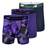 New Balance Men's Ultra Soft Performance 6' Boxer Briefs with No Fly (3-Pack of Underwear)
