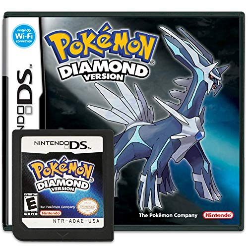 Pokemon Diamond Version Game Cartridge Card Sealed in Box Compatible with Nintendo DS/NDS/NDSL/NDSi/3DS/2DS Version (Reproduction Version)