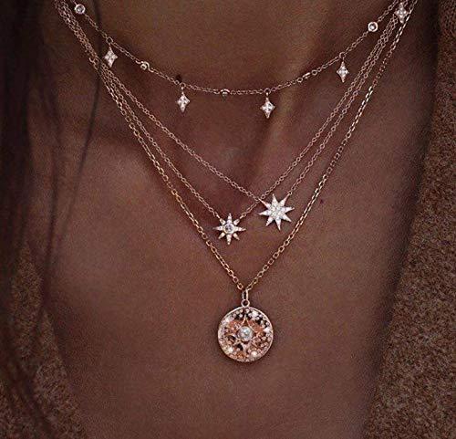 Yean, collana con ciondolo a forma di stella, in stile boho, per donne e ragazze