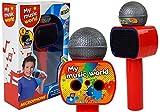 Lean Toys Altavoz inalámbrico Karaoke Bluetooth para Micrófono Infantil Rojo