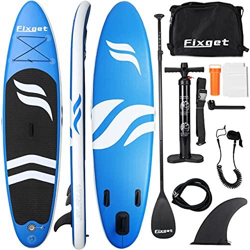 Tablas Paddle Surf, Paddle Surf Hinchable Tabla Surf Set 300x76x15cm Carico di 150kg Sup Kit con Remo de Aluminio + Bomba +Accesorios Completos (Tipo B Azul)