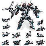 MOONTOY Robot Stem Jouet 25 en 1 Kit de Construction Briques Bâtiment Bricolage Pédagogique Construction Blocs Jeu de Jouets Éducatifs pour Enfants 6 7 8 9 10 Ans Meilleur Cadeau de Jouet (577PCS)