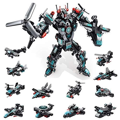 MOONTOY STEM Spielzeug, 577 PCS Roboter Spielzeug für 6-jährige Jungen, 25-in-1-Space-Fighter-Bausteine für das Universum Kinder im Alter von 5 6 7 8 9 10 11 12 Jahren…