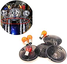 HTTMT MT293-001-SK Turn Signal Lens Compatible with Harley Davidson Electra Glides Road King Heritage Smoke
