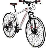 Galano 29 Zoll MTB Toxic/Pulse Mountainbike Scheibenbremsen Shimano Tourney (Weiss/rot)