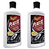 Meguiars G12310 PlastX Clear Plastic Cleaner and Polish, fQRlHU 2 Pack(10 ounce)