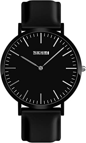 Youwen Men/Women Watches Fashion Ultra-Thin No Second Hand Quartz Watches Couple Waterproof Wristwatches with Resin Strap