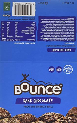 Bounce Dark Chocolate Protein Energy Ball, 40 g, Pack of 12
