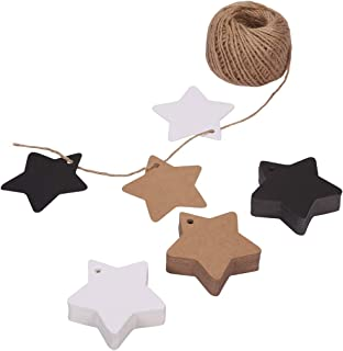 150ct Kraft Gift Tags Labels with String (3 Colors) (Star)