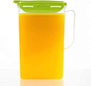 LOCK & LOCK Aqua Fridge Door Water Jug with Handle BPA Free Plastic Pitcher with Flip Top Lid Perfect for Making Teas and ...