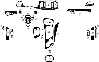 Rvinyl Rdash Dash Kit Decal Trim for Dodge Challenger 2015-2017 - Carbon Fiber 4D (Black)