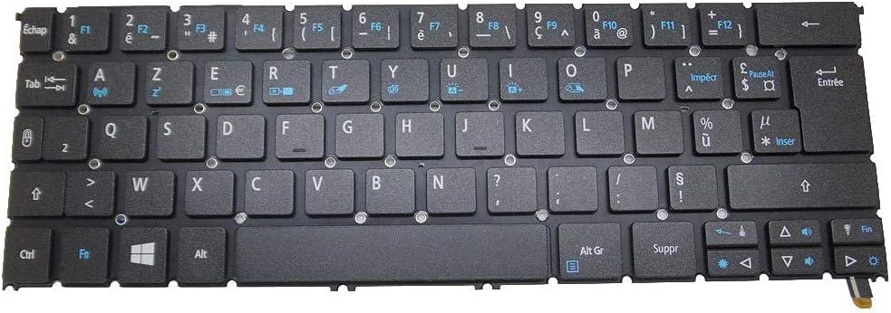 LANGPIAOEZU 100% Laptop Keyboard for ACER R7-371T MP-13C66F0J9201 AEZS8F00020 NK.I1213.02D Without Frame France FR Backlit New