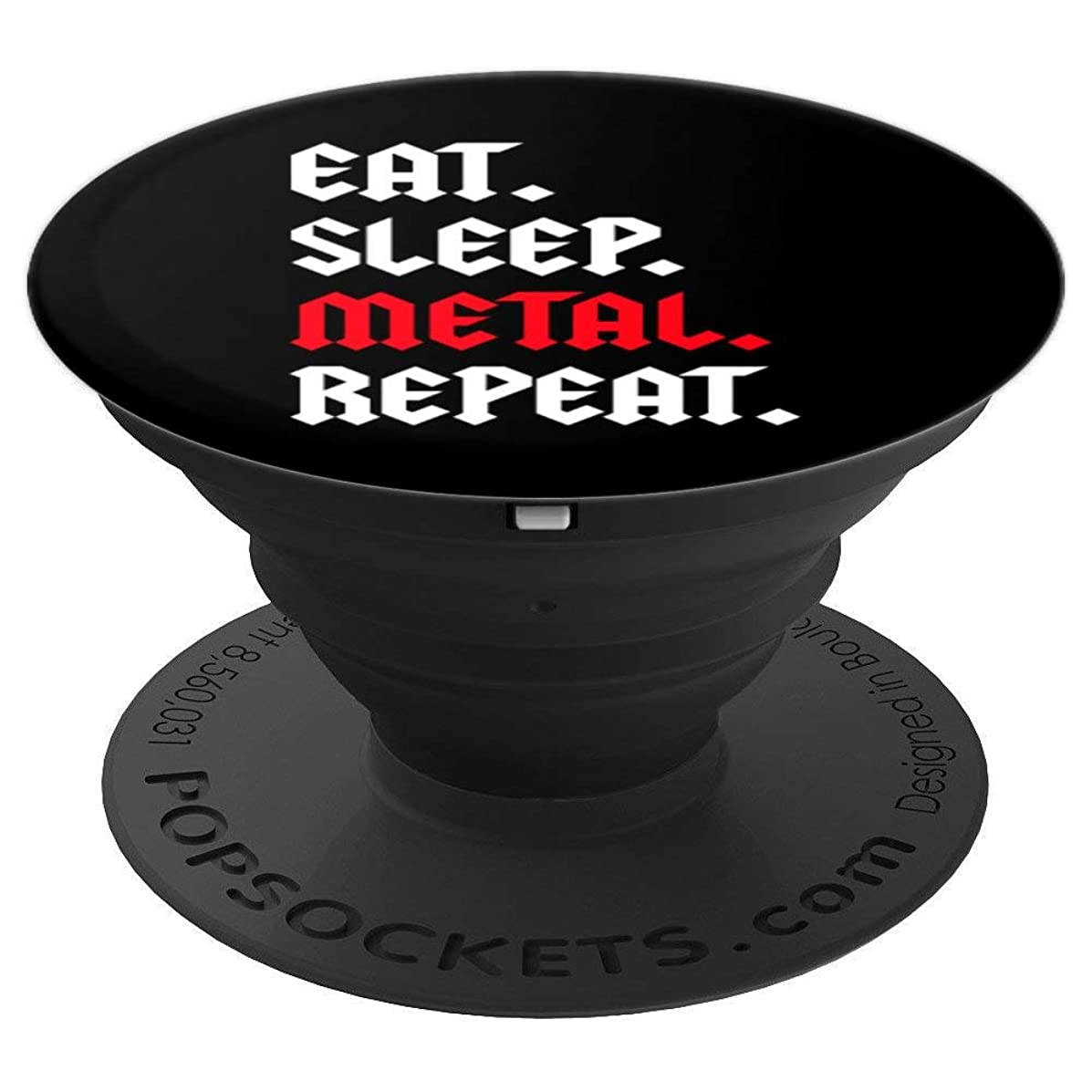 Eat Sleep Metal Repeat Gift Fan Lover Musician Phone Gadget - PopSockets Grip and Stand for Phones and Tablets