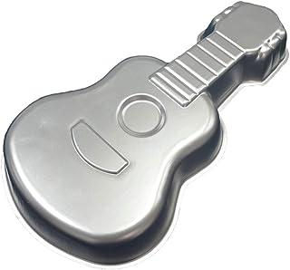aiyvi Kuchen Backblech DIY Gitarre Form Backform Backformen Aluminium Backen Schimmel Geschenk Kuchen Fondant Keks Dekorat...