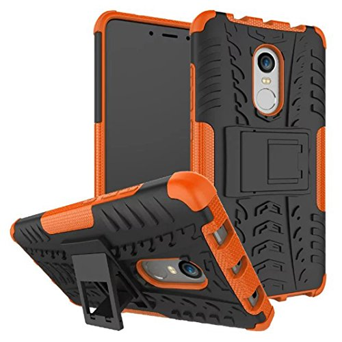 XiaoMi RedMi Note 4X Custodia, Hybrid Armor Design with Stand Feature Detachable Dual Layer Protective Shell Hard Back Cover Custodia per XiaoMi RedMi Note 4X - Arancione