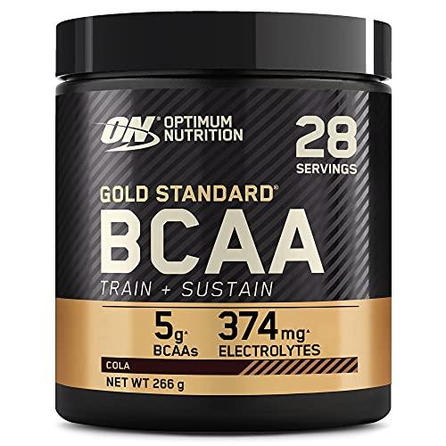 Optimum Nutrition Gold Standard BCAA Polvo, Suplementos Deportivos con Aminoacidos, Vitamina C, Zinc, Magnesio y Electrolitos, Cola, 28 Porciones, 266g, Embalaje Puede Variar