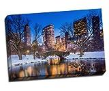 Gapstow Bridge in Winter, Central Park Kunstdruck auf