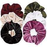 Ondder 6 Pcs Hair Scrunchies for Hair Velvet Blend Cheap Scrunchies Velvet Hair...