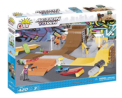 COBI - Crazy Skatepark, playset , color marrón (1880) , color/modelo surtido