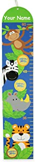 Personalized Stephen Joseph Growing Inch by Inch Jungle Zoo Animal Measuring Keepsake Growth Chart with Photo Frames for B...