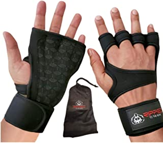 Pair of Sports Cross Training Gloves with Wrist Support for Fitness, Weightlifting Gloves, WOD, Powerlifting, Slilcone Pad...