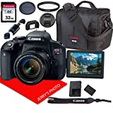 Canon EOS Rebel T7i DSLR Camera w/Canon EF-S 18-55mm F/4-5.6 is STM Zoom Lens + Canon Case + 32GB SD Card