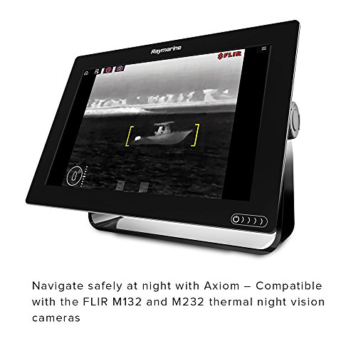 Raymarine Axiom 12 Fish Finder with built in GPS, Wifi, CHIRP Sonar and RealVision 3D with Transducer and Navionics+