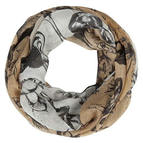 "Disney Loop ""Bambi"" mit Schrift-Print aus recyceltem Polyester"