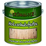 Grünwalder Wetterschutzfarbe premium Holzschutzfarbehochdeckende Holz-Farbe (2,5 L, Schwedenrot)