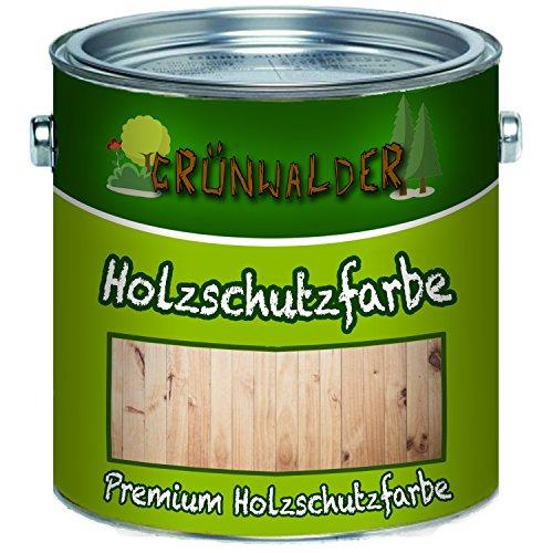 Grünwalder Pintura de protección contra la intemperie para madera de alta cobertura (1 L), color marrón rojizo