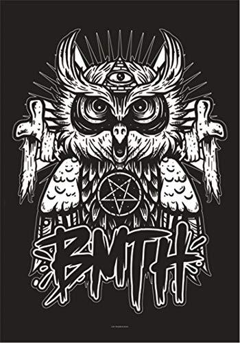 Heart Rock Licensed Flagge Bring Me The Horizon–Owl, Stoff, Mehrfarbig, 110x 75x 0,1cm