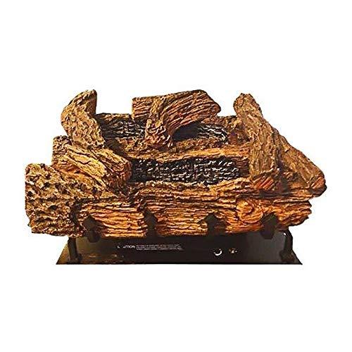 24'' Manual EverWarm Palmetto Oak Gas Logs and BUF400 Firebox - LP