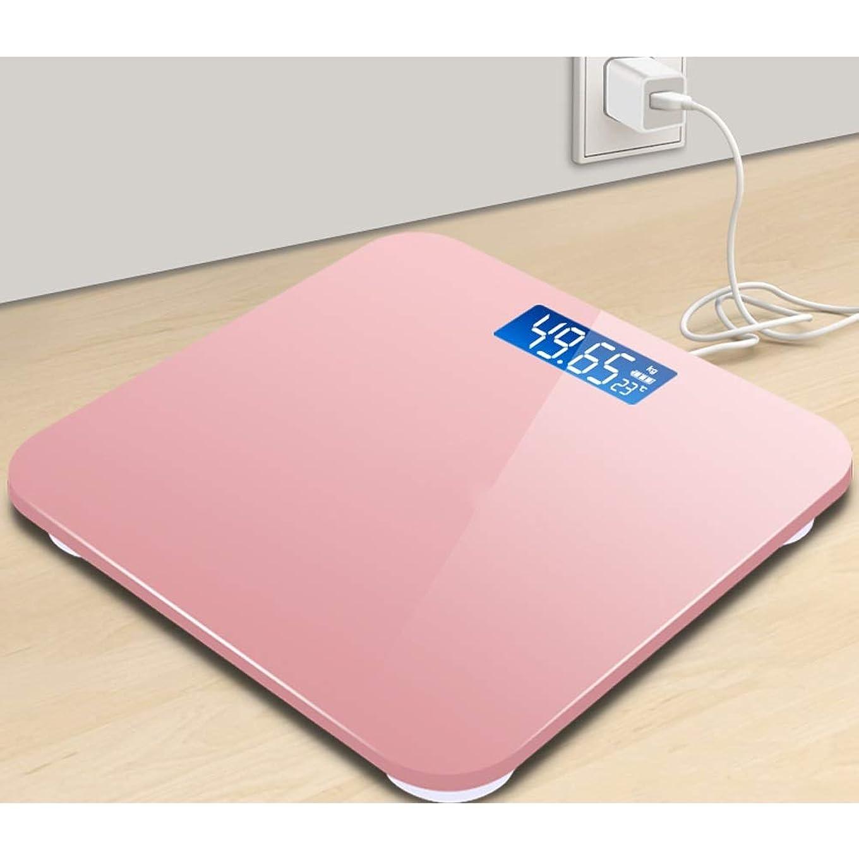 九時四十五分ルーチン断線電子スケールの重量を量る、家の大人の重量の正確な人間の体重のスケールメートルは満たすことができます - 11x11x0.9inch WJMYYX (Color : Rose gold-A)
