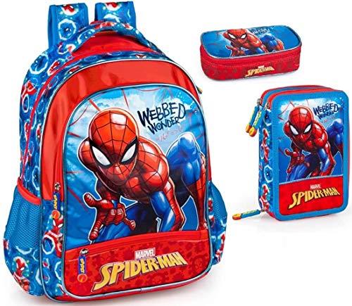 Marvel Spiderman Mochila, estuche y estuche escolar para niños Spider-Man