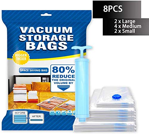 Vacuum Storage Bags 8 Pack $9.99 Reg.$30.99(68% Off)