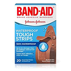 Band-Aid Brand Tough-Strips Waterproof Adhesive Bandages